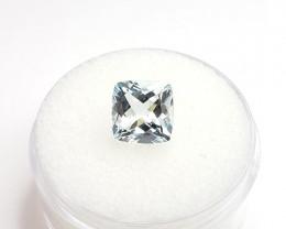 Aquamarine – 2.0 Carats – Square Cushion Cut – March Birthstone