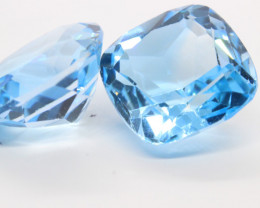 28.35Ct Natural Brazilian VVS Swiss Blue Color Topaz
