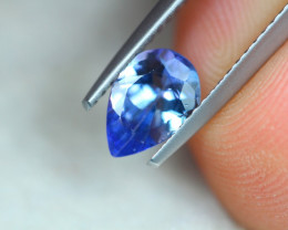 0.98ct Natural Violet Blue Tanzanite Pear Cut Lot P210