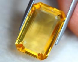 11.19ct Natural Yellow Citrine Octagon Cut Lot GW8346