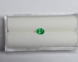 0.30 Carat Vivid Green Panjshir Emerald