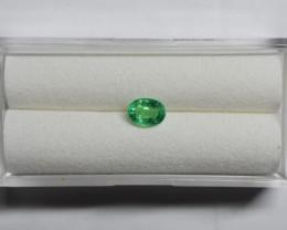 0.38 Carat Light Green Panjshir Emerald