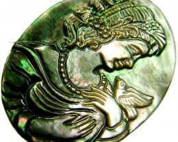 MOTHER OF PEARL CARVING 24.80 CTS [MX3266 ]