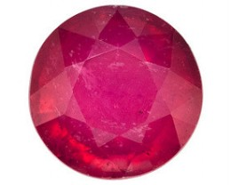 RUBELLITE TOURMALINE .30 CARAT WEIGHT ROUND CUT GEMSTONE NR