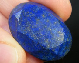 LAPIS LAZULI  OVAL FACETED STONE  31.20 CARATS  AG 1513