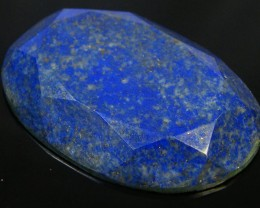 LAPIS LAZULI  OVAL FACETED STONE 38.40  CARATS  AG 1515