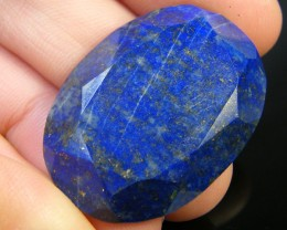 LAPIS LAZULI  OVAL FACETED STONE 38.10  CARATS  AG 1516