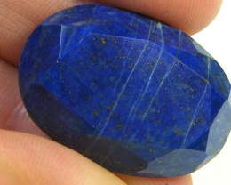 LAPIS LAZULI  OVAL FACETED STONE  24.75 CARATS  AG 1518