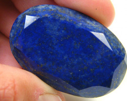 LAPIS LAZULI  OVAL FACETED STONE  58.40 CARATS  AG 1537