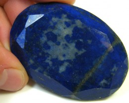 LAPIS LAZULI  OVAL FACETED STONE 113.60  CARATS  AG 1556