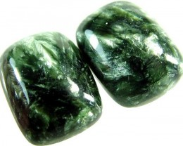 SERAPHINITE PAIR- LEAFY PATTERN 36.1 CTS [ST3812 ]