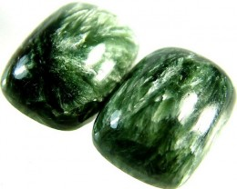 SERAPHINITE PAIR- LEAFY PATTERN 36.3 CTS [ST3813 ]