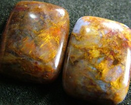 PIETERSITE CAB PAIR FROM CHINA  27 CTS  [ST3796 ]