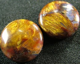 PIETERSITE CAB PAIR FROM CHINA 14.9 CTS  [ST3780 ]