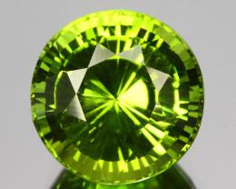 ~STUNNING~ 4.51 Cts Natural Peridot Parrot Green 10mm Round Pakistan