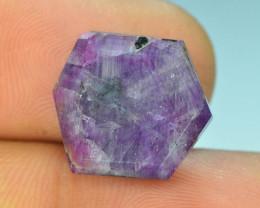 Top Garde 14.10 ct Corundum Kashmir Sapphire Trapiche Slice~SSSS