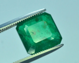 3.65 CT Untreated Vivid Green Emerald
