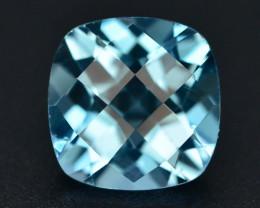 Brillient Cut 5.50 ct Top Color Blue Topaz ~ Swiss