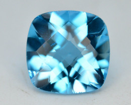 Brillient Cut 4.70 ct Top Color Blue Topaz ~ Swiss