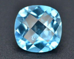 Brillient Cut4.30 ct Top Color Blue Topaz ~ Swiss