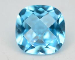 Brillient Cut 5.0 ct Top Color Blue Topaz ~ Swiss