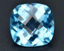 Brillient Cut 4.95 ct Top Color Blue Topaz ~ Swiss