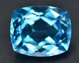 Brillient Cut 6.80 ct Top Color Blue Topaz ~ Swiss