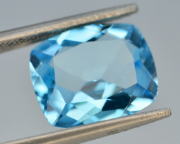 Brillient Cut 4.70 ct Top Color Blue Topaz ~ Swiss