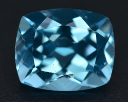 Brillient Cut 6.55 ct Top Color Blue Topaz ~ Swiss