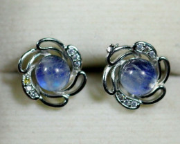 Natural  MoonStone 925 Silver Earring