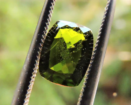 1.40ct DEEP GREEN RUSSIAN CHROME DIOPSIDE CUSHION CUT