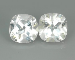 10.90 CTS~FINE QUALITY_LUSTROUS -NATURAL WHITE TOPAZ -CUSHION
