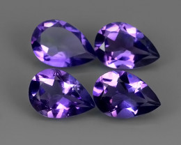 6.20 cTS AWESOME NATURAL PEAR PURPLE~VIOLET AMETHIYST GEM!!