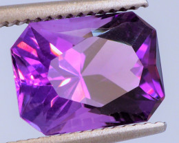 RUSSIAN ROYAL PURPLE! CUSTOM CUT! Unheated 3.73 CT Amethyst (Uruguay)