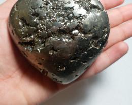 pyrite heart  gemstone