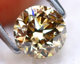 0.91Ct Natural Untreated Fancy Champagne Color Diamond A1523