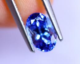 1.00cts Natural Violet Blue D Block Tanzanite / RD509