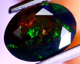 1.11cts Natural Ethiopian Smoked Faceted Black Opal / RD532