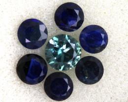 1.33 -CTS Australian Sapphire Faceted Parcel( 7 pcs)  PG-3298