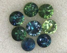 1.23 CTS Australian Sapphire Faceted Parcel( 8 pcs)  PG-3301