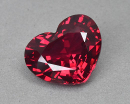 1.47 Cts Gorgeous Beautiful Heart Shape Natural Burmese Red Spinel