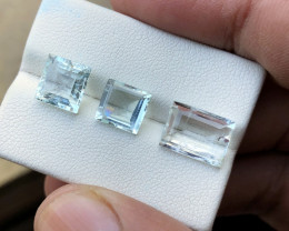 7.35 Ct Natural  Transparent Aquamarine Gemstones Parcels