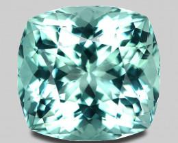 Flawless, high gem precision master cut natural sea blue aquamarine.