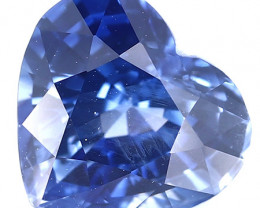 2.70 ct Heart Shape Blue Sapphire: Cornflower Blue