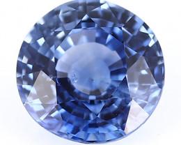 0.89 ct Round Blue Sapphire: Cornflower Blue