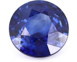 1.82 ct Round Blue Sapphire: Deep Rich Blue