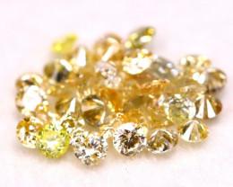 0.64Ct 41Pcs 1.50mm Natural Fancy Orangy Yellow Round Cut Diamond B1632