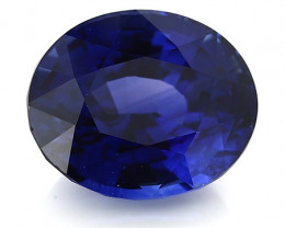 4.15 ct Oval Blue Sapphire: Rich Royal Blue