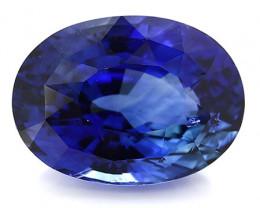 5.80 ct Oval Blue Sapphire: Rich Royal Blue