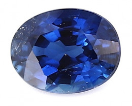 0.24 ct Oval Blue Sapphire: Royal Blue